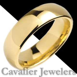 MENS TUNGSTEN RING WEDDING BAND 14K GOLD S1 7MM_W