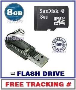 8gb micro sd memory card Class 2 USB Flash Drive Reader TF Keyholder