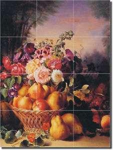 Chevalier Flowers Fruits Kitchen Ceramic Tile Mural Art