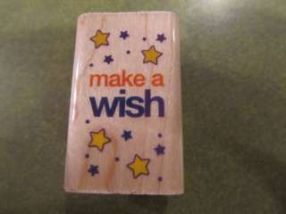 MAKE A WISH MW RUBBER STAMP RUBBER STAMPEDE