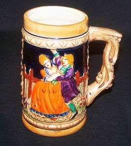German People Scene Ceramic Beer Tankard Stein Mug Cup