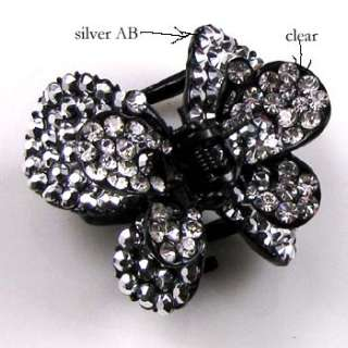 1 pc crystals Acrylic butterfly hair claw clip