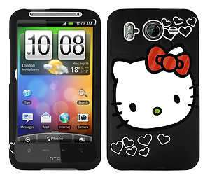 SNAP ON CASE COVER SKIN HELLO KITTY FOR HTC INSPIRE 4G DESIRE HD