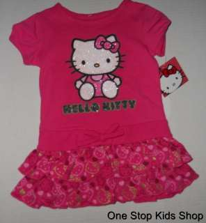 HELLO KITTY Girls 2T 3T 4T Set Outfit DRESS Shirt Skirt