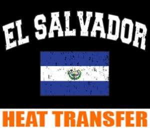 El Salvador 2 Heat Transfer paper Decal 100pcs Iron on