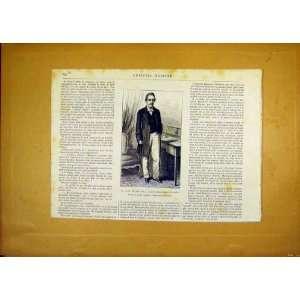 Portrait Chaillu Author Gorillas French Print 1868 Home & Kitchen