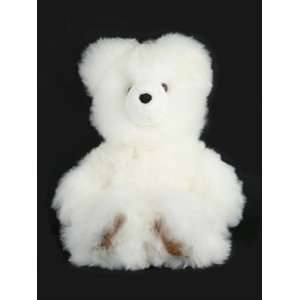 White Fur Teddy Bear Plush Natural Fair Trade Peru