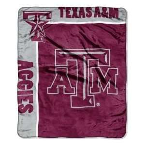 Texas A&M Aggies TAMU NCAA 50 X 60 Royal Plush Raschel Throw Blanket