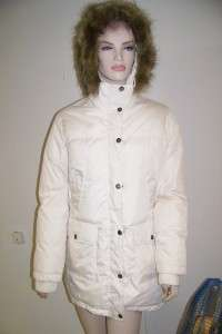 TOMMY HILFIGER IVORY DOWN FAUX FUR HOOD JACKET M BRAND NEW WITHOUT