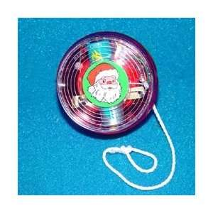 Club Pack of 24 Electronic Santa Claus Christmas Yo Yos with Lights