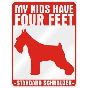 Have 4 Feet : Standard Schnauzer  Parking Sign Dog: Home & Kitchen