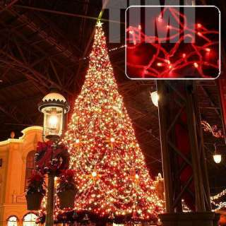 Waterproof Xmas Outdoor 32M 300 Red LED Christmas Lights Decorate