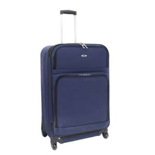 Piece Expandable Upright Spinner Luggage Set   Navy Blue