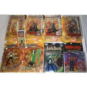 9 Dark Alliance Figures   Vandala, Lady Death Alive, Lady
