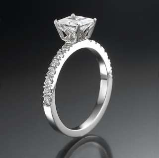 CT PRINCESS CUT ENGAGEMENT WEDDING RING 14KT SOLID WHITE GOLD