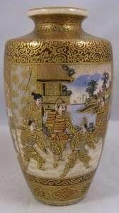 Antique miniature Satsuma vase signed Bizan Meiji