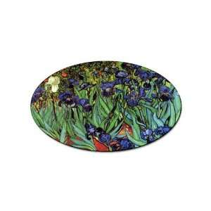Irises By Vincent Van Gogh Oval Sticker