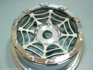 2X FRONT SPIDER CNC ALLOY WHEEL RIMS HPI BAJA 5B TIRES