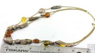 FANCY ELEGANT PEARL/GLASS BEAD MULTI STRAND DESIGNER NECKLACE