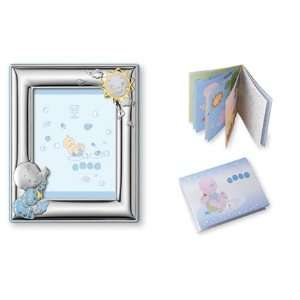 Adorable BABY BOY SET Picture Frame in STERLING SILVER