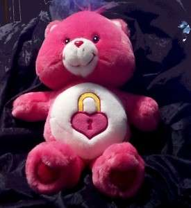 Care Bear Talking SECRET Heart Lock 13 Plush 2004 Pink