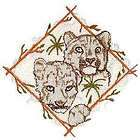 Darling Snow Leopard Cubs Wild Big Cat Iron on Patch