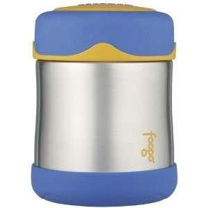 BLUE Thermos Foogo Leak Proof Stainless Steel Food Jar 10oz