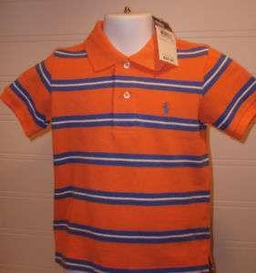 Ralph Lauren Toddler Boys Striped Polo Shirt Assorted