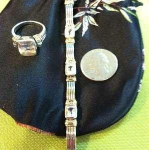 LAGOS CAVIAR Sterling Silver 18k Gold White Topaz Bracelet And Ring