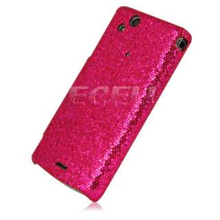 HOT PINK GLITTER CASE FOR SONY ERICSSON XPERIA ARC X12