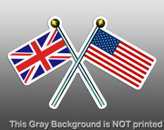 USA UK Flag Poles Sticker  decal united british us pole