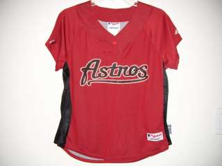 HOUSTON ASTROS BATTING PRACTICE JERSEY Short Sleeve Shirt WOMENS Size