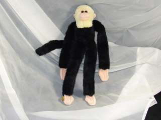 LIFELIKE WHITE FACE MONKEY PLUSH HUG ME STUFFED ANIMAL