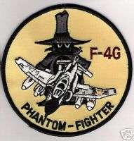 DESERT SHIELD USAF F 4G PHANTOM FIGHTER JET WILD WEASEL IRON ON PATCH