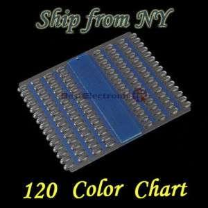 120 Color Display Chart Nail Art Acrylic UV Pedicure