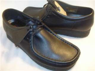 Clarks WALLABEE Mens black leather US sz 8 M