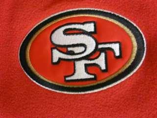 NFL Team Apparel San Francisco 49ers Polar Fleece Mens Large Tall New