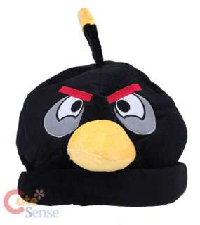 Angry Birds Plush Beanie/Costume Hat  Black Bomb Bird