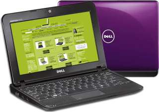 Dell Inspiron Mini 1010 Netbook Intel 250G Webcam Win7 Purple TV Tuner
