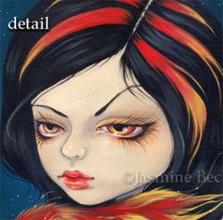 Phoenix Tattoo gothic fire fairy big eye art BIG PRINT