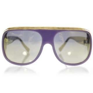 LOUIS VUITTON Millionaire Sunglasses Purple w Gold Plated Lenses LE