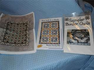 Pieced Quilt Patterns Sampler Border Moose Star Winter Spice