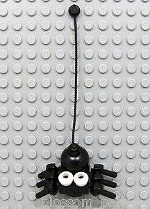 NEW Lego Halloween Animal CREEPY BLACK SPIDER w/White Eyes & 6 Legs