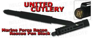 United Cutlery Marine Force Recon BLACK Rescue Pen w/ Window Punch