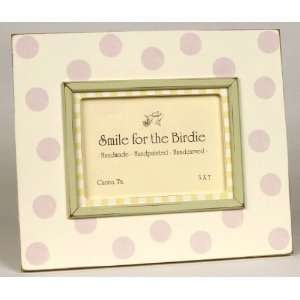 Pink Polka Dots Picture Frame Baby