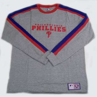 Authentic MLB Philadelphia Phillies Long Sleeve Embroidered Crew
