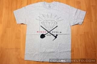 Diamond Supply Co. Minded Denim Tee Shirt huf hundreds HEATHER GREY