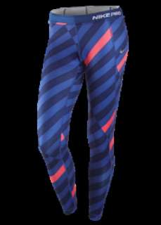 Nike Womens Pro Combat Thermal Tights Running Training Pants Printed