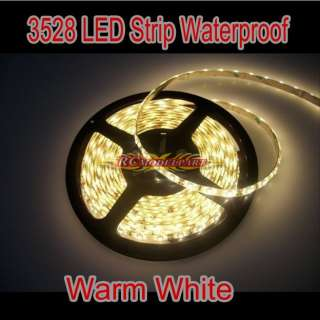 5M 300 LED 3528 SMD Warm White Waterproof Light Strip