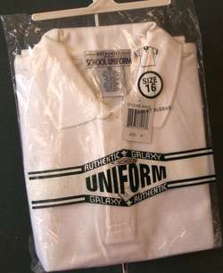 NEW w/ TAGS Boys SCHOOL Uniform POLO SHIRT White Sz 16